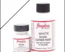 white leather paint