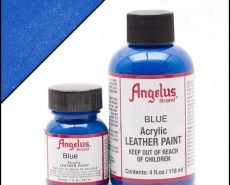 blue leather paint