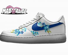 blue floral custom shoes