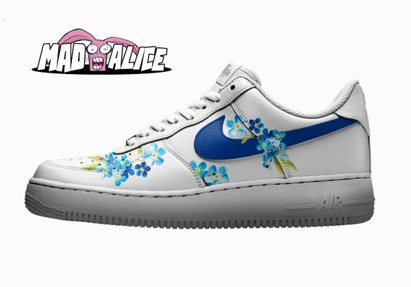 blue floral custom shoes