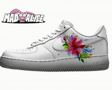 pink floral custom shoes