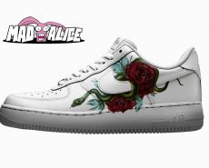 snake-roses custom shoes