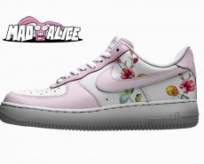 pastel pink flower custom shoes