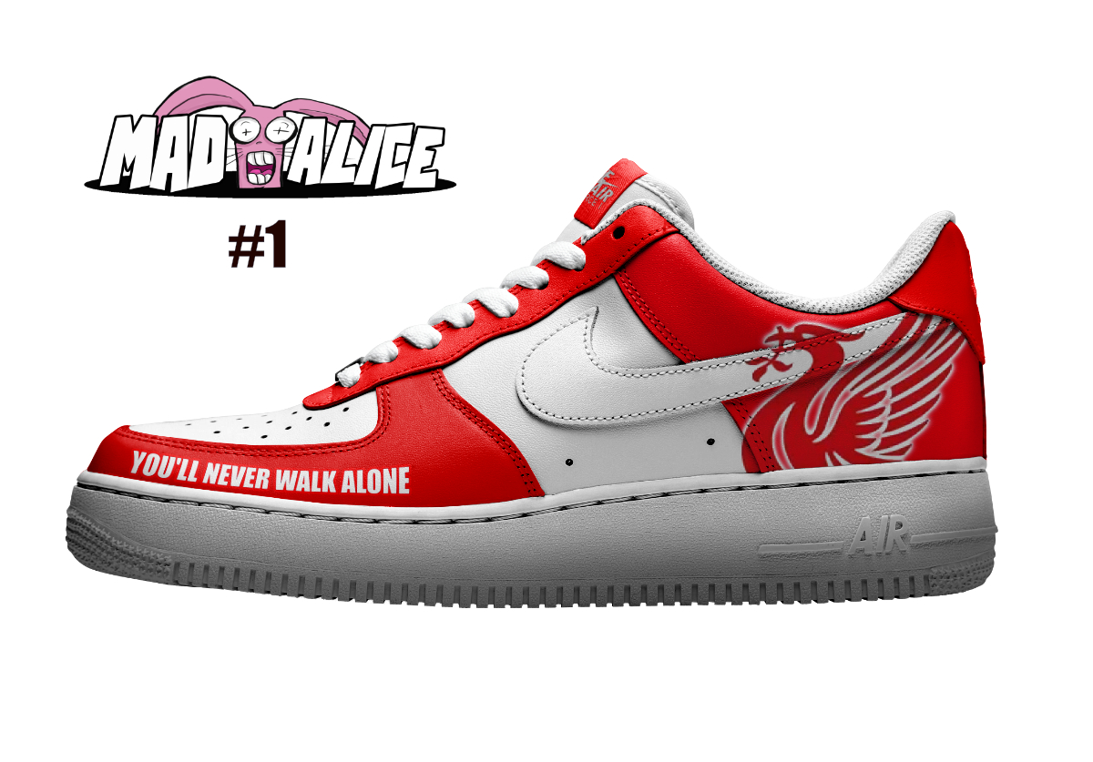 custom painted shoes liverpool fc