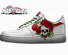 flower skull custom shoe