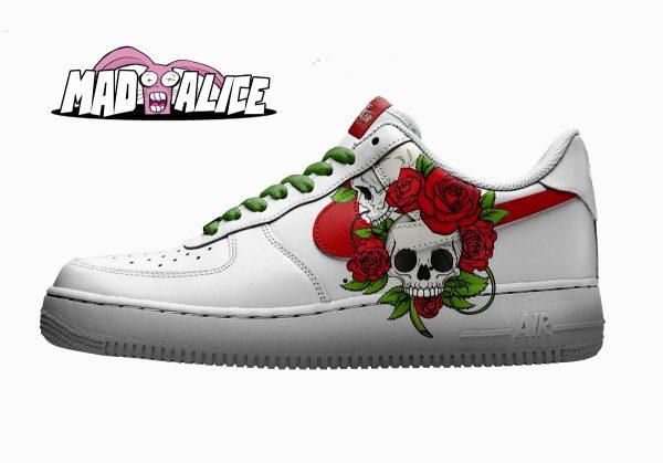 flower skull custom shoe