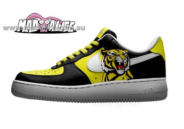 custom painted shoes nike richmond tigers