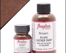 brown leather paint
