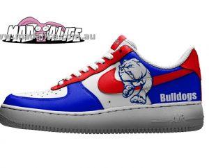 custom painted nike bulldogs shoes