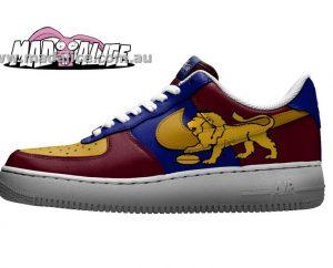 custom painted brisbane lions shoes