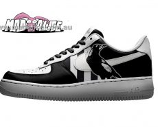 custom painted magpies shoes collingwood