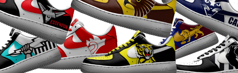 custom painted AFL shoes