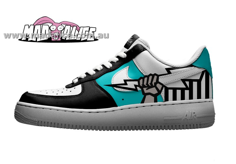 port adelaide custom painted shoes