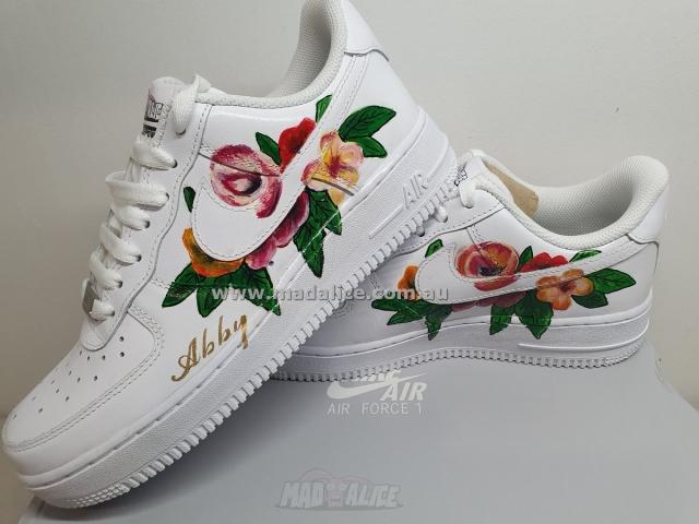 flower hand painted sneakers