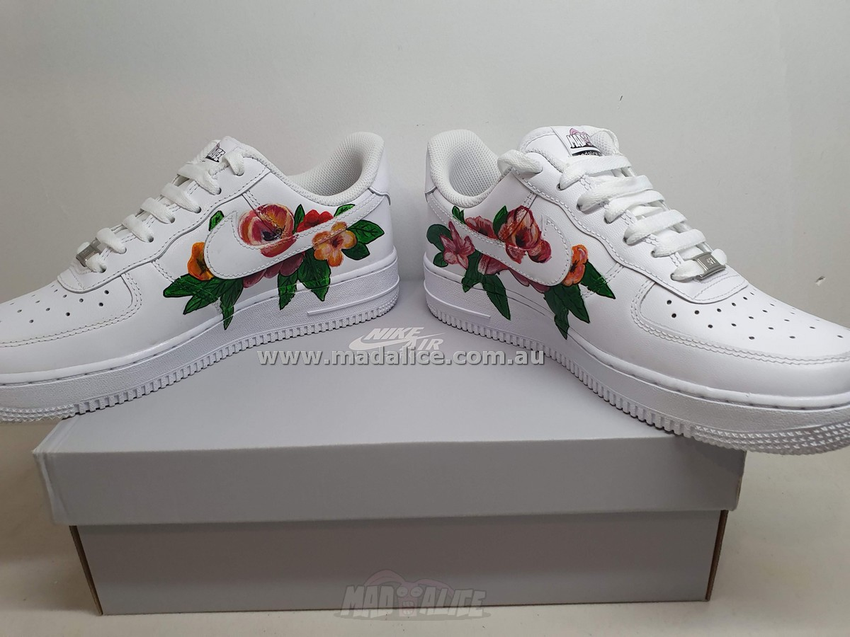 flower hand painted sneakers