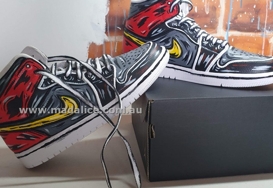 custom hand painted Nike jordan mids