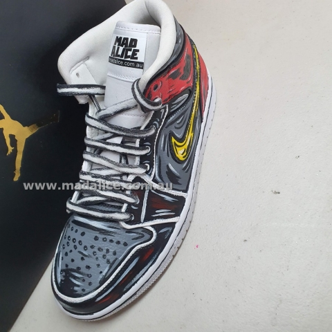 cartoon hand painted Nike air force