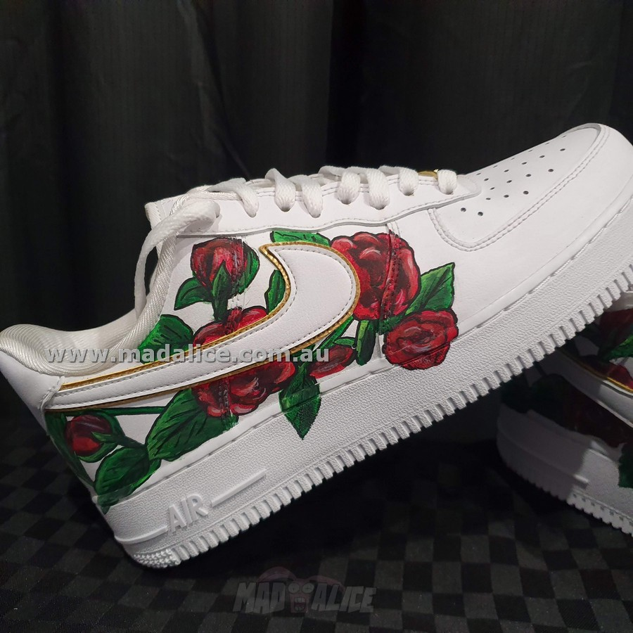 hand painted AF1 roses