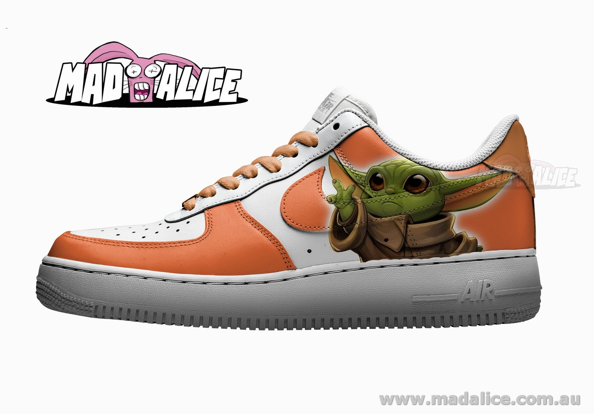 Baby Yoda inspired AF1- Green - MAD