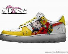 sesame street kaws custom painted nike sneakers