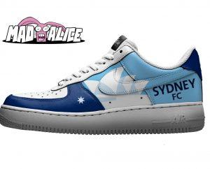 custom painted sydney fc shoes