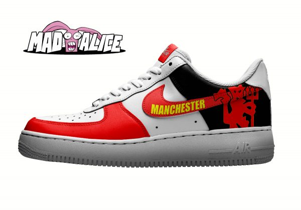 manchester United custom painted shoes