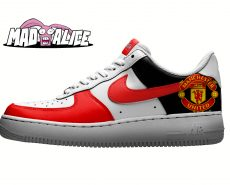 man united hand painted shoes