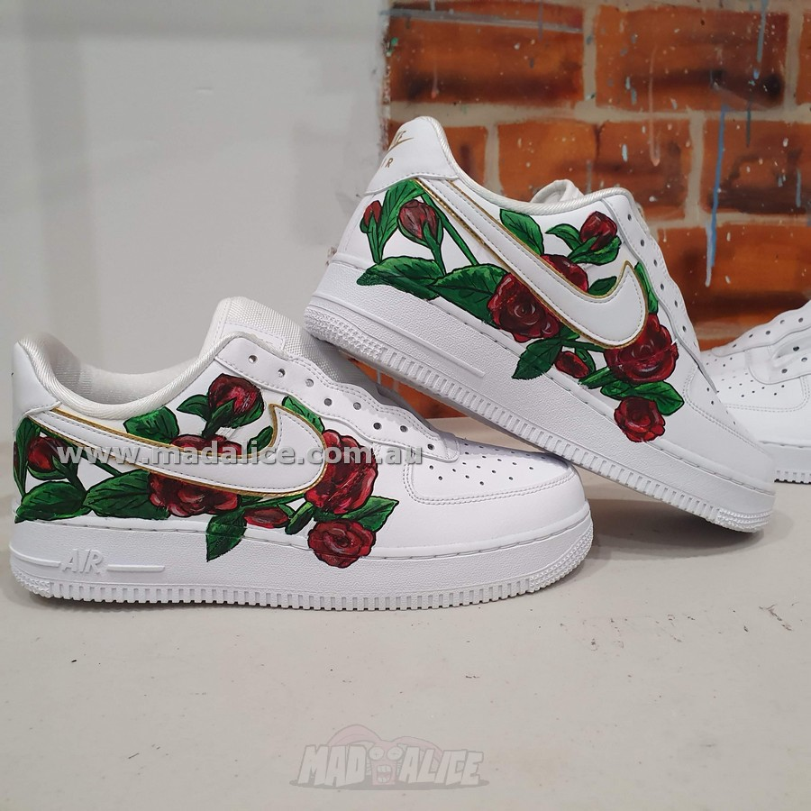 hand painted roses shoes