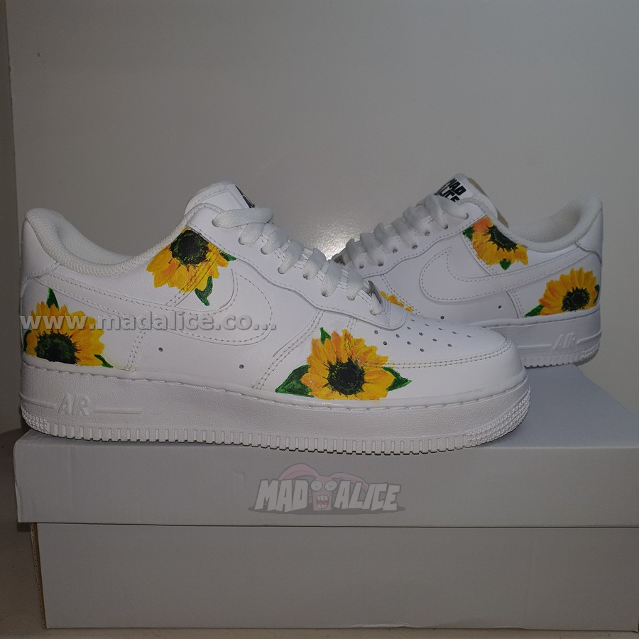 sunflower custom painted shoes