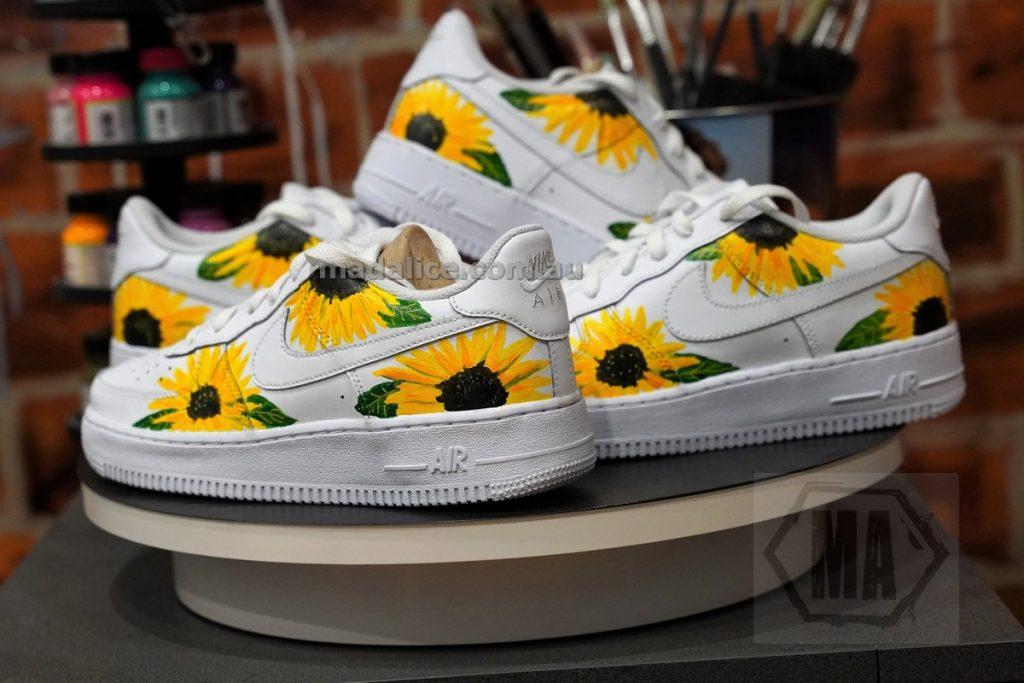 sunflower custom shoes