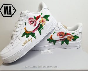 hand painted nike flower shoe