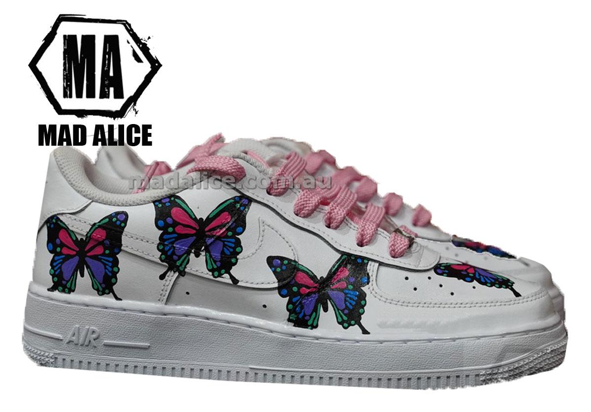 pink butterfly custom nike