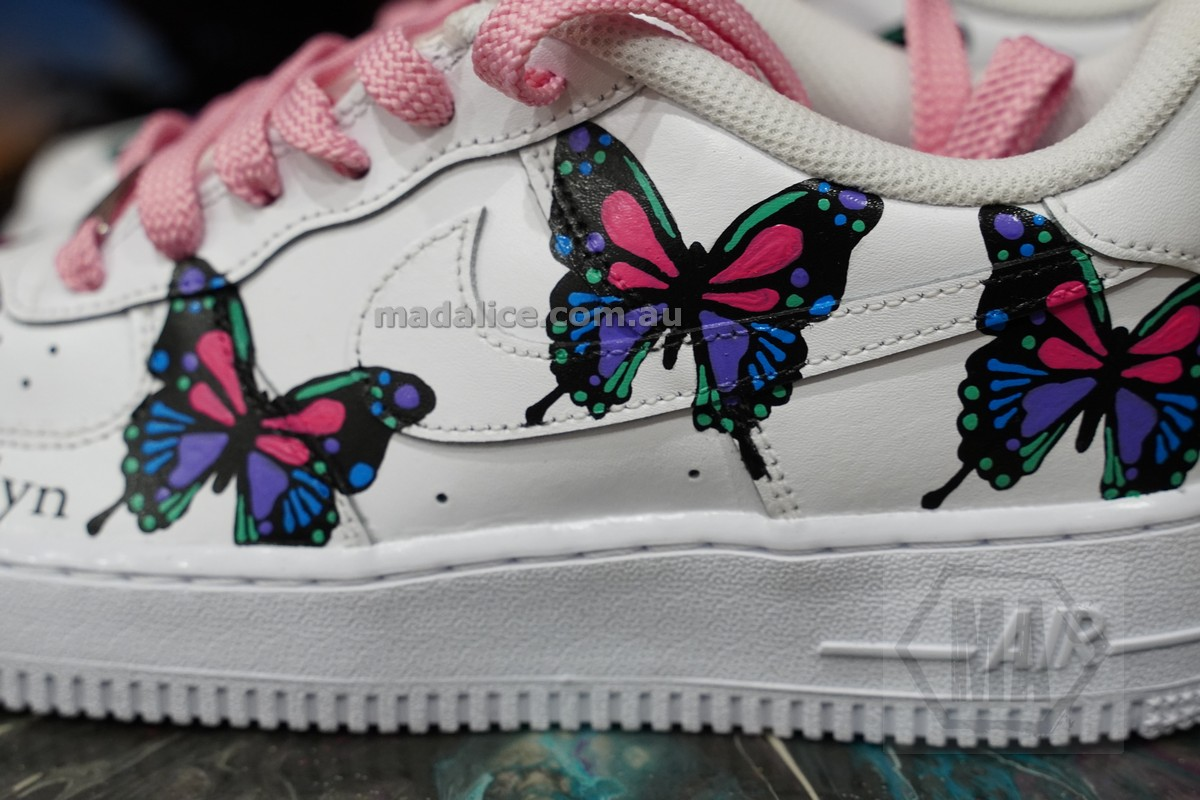 hand painted butterfly nike