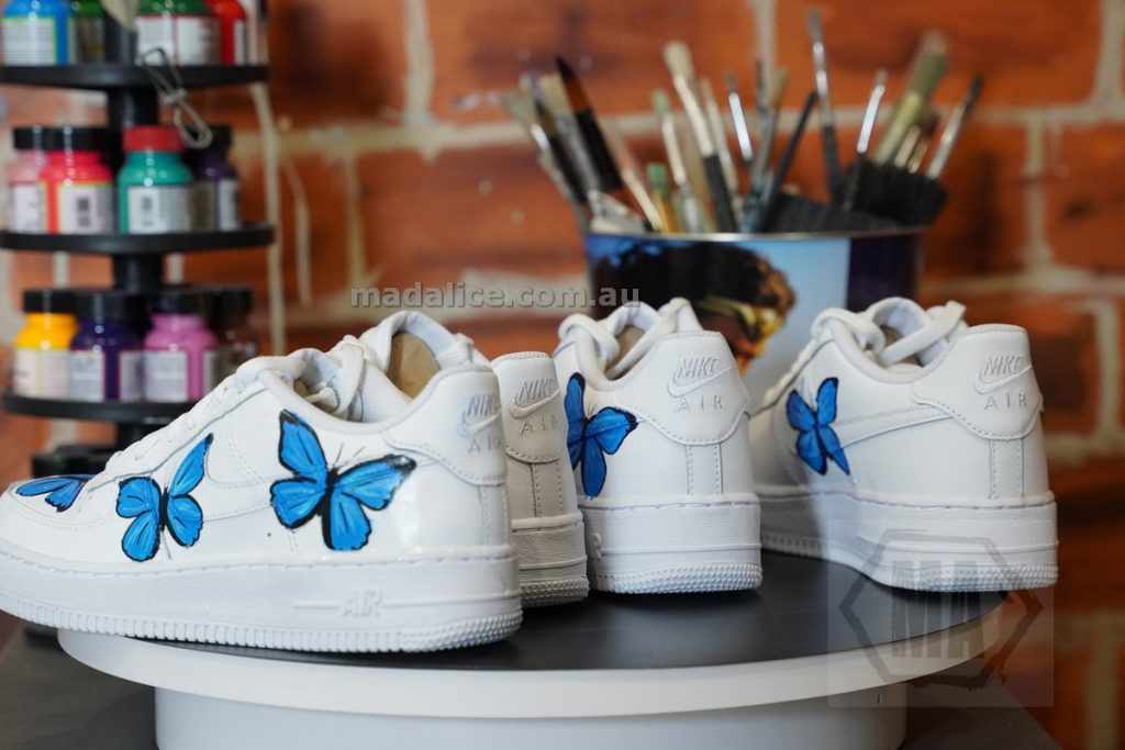 hand painted af1 butterfly