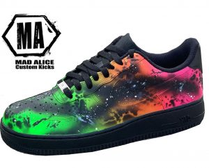 flouro abstract custom shoe