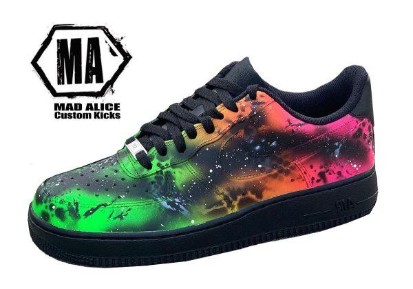 flouro abstract custom shoe