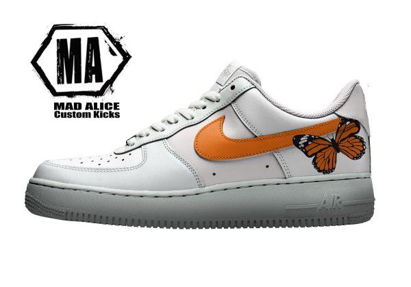 orange butterfly custom kicks
