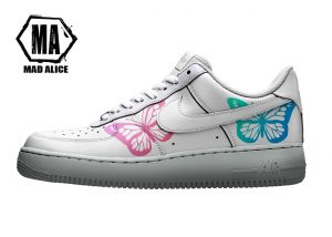 hand painted butterfly af1 sneakers