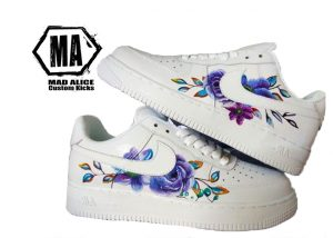 hand painted flower af1 shoes