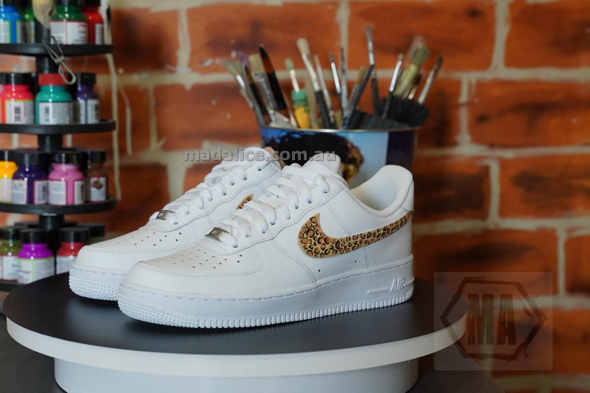 custom leopard af1 shoes