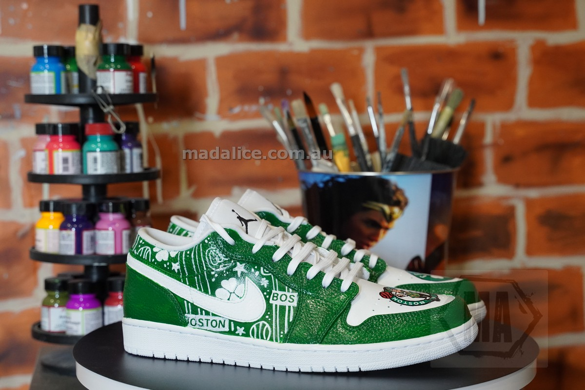 Boston Celtics custom shoes