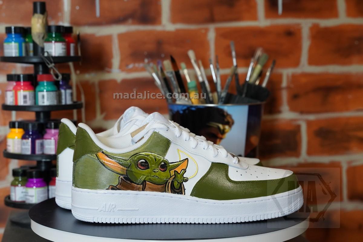 baby yoda custom shoes