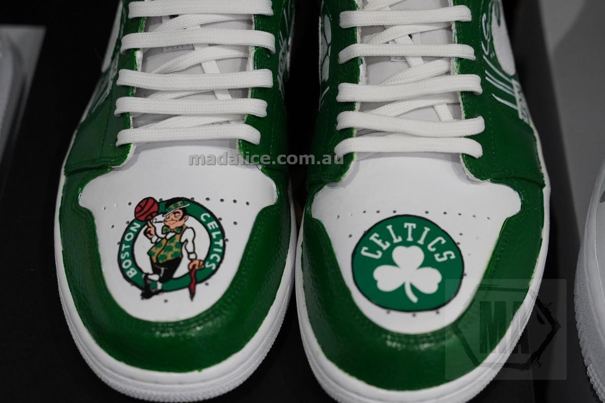 Hand painted Boston Celtics Jordan 1 low