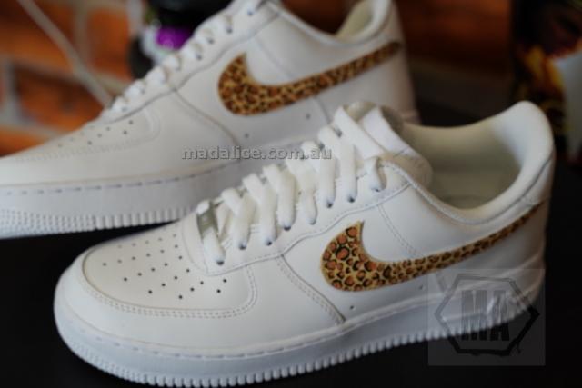 hand painted leopard af1 shoes