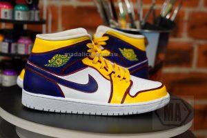 lakers custom shoes