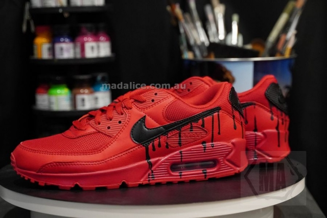 custom painted air max 90 shoes