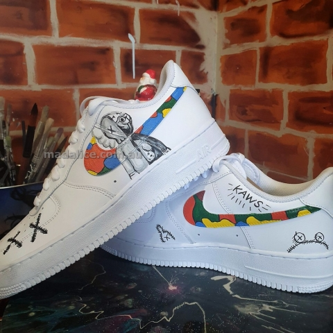 Kaws inspired custom hand painted AF1 shoes
