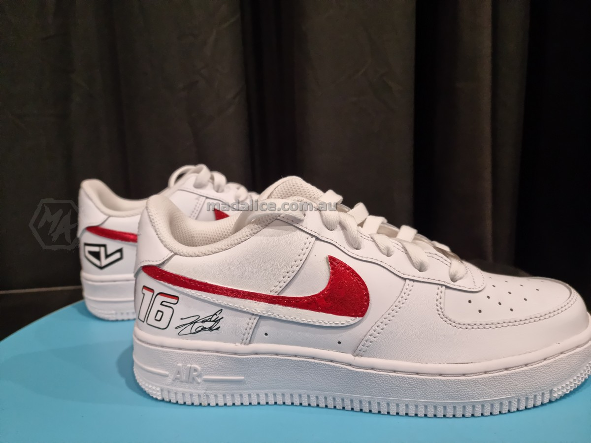 ferrari themed custom shoes