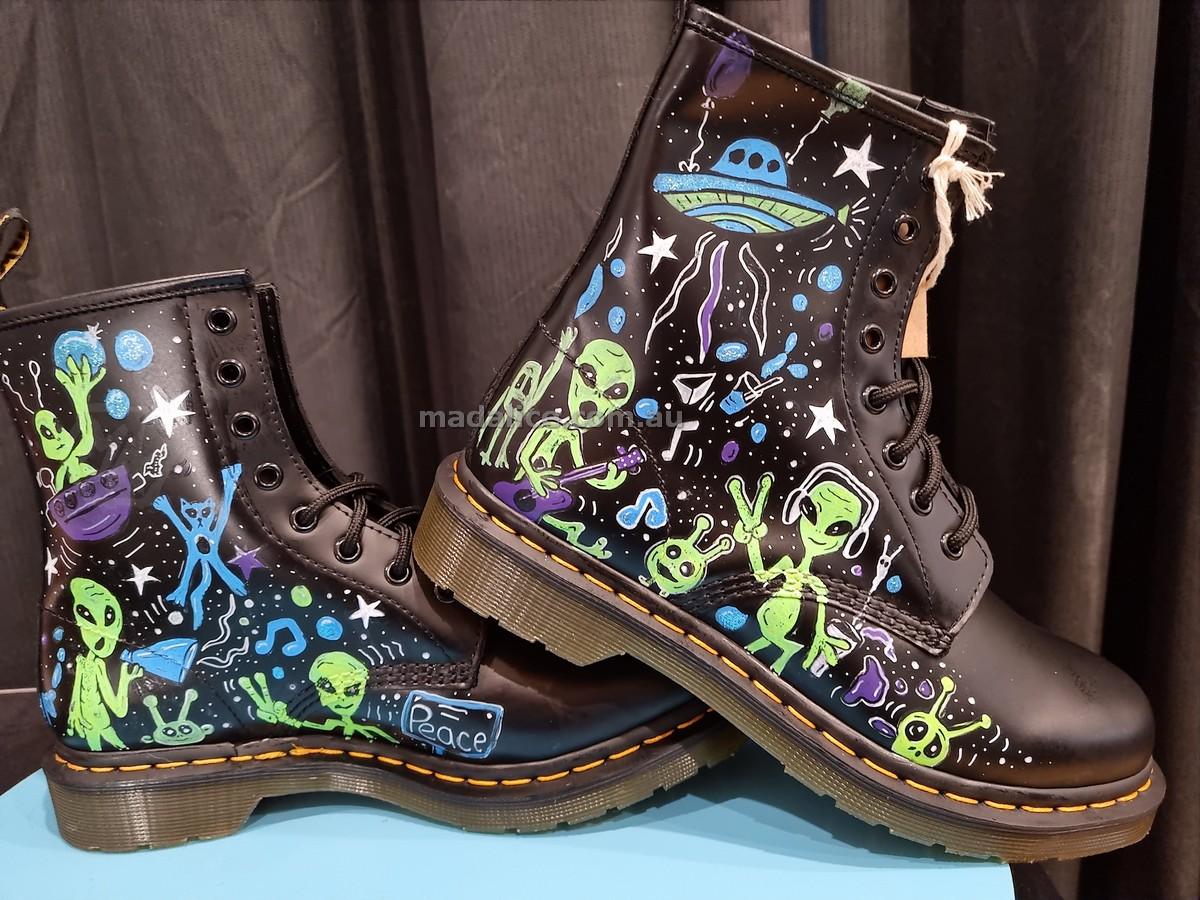 custom painted doc marten boots