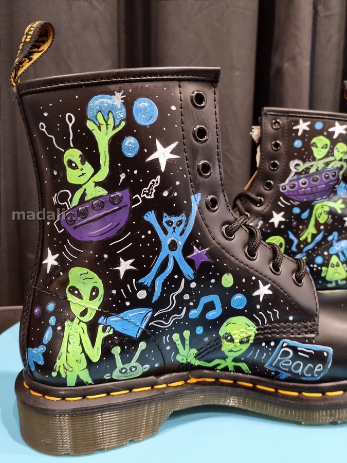 custom painted doc martens boots